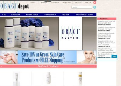 Obagi Depot website