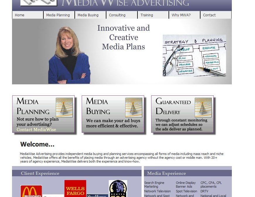 MediaWise Advertising website