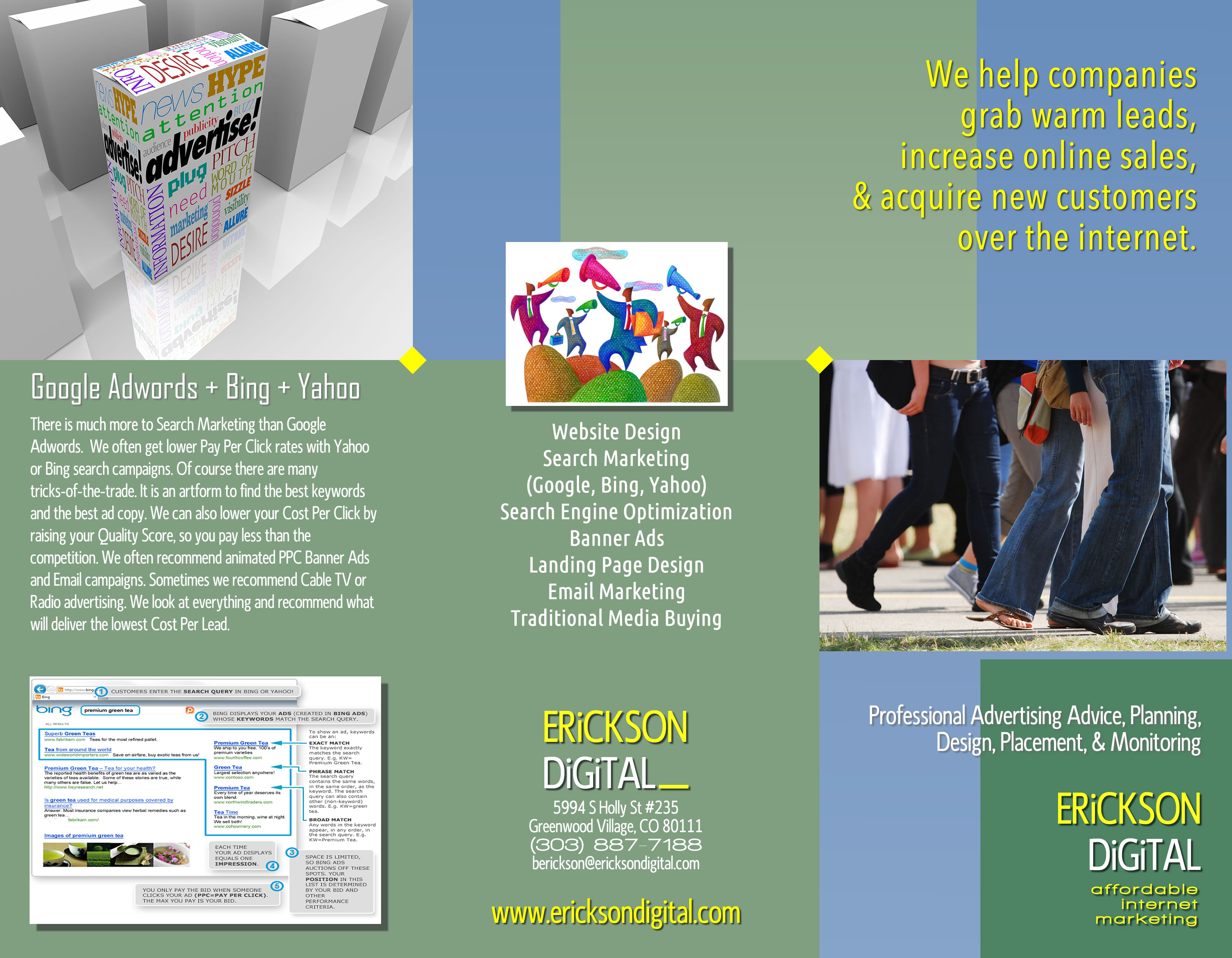 erickson digital web design and SEM brochure - outside