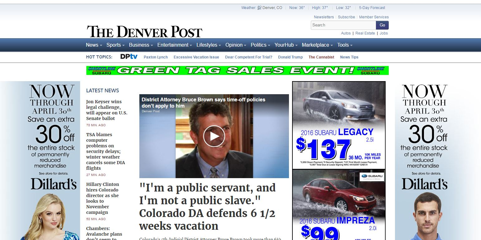 denver post banner ads