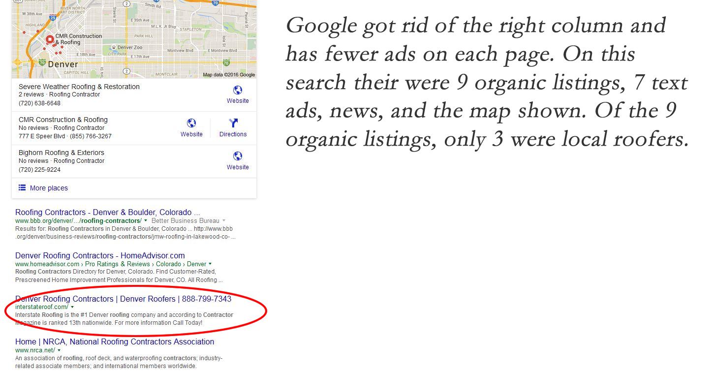 organic listings on Google