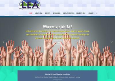 littleton education association website design