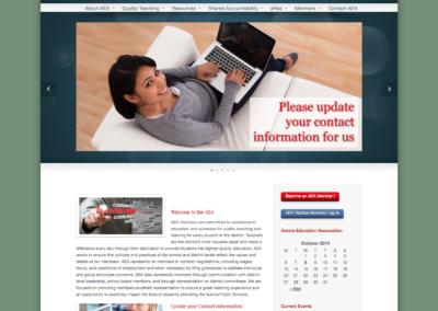 aurora education association website design