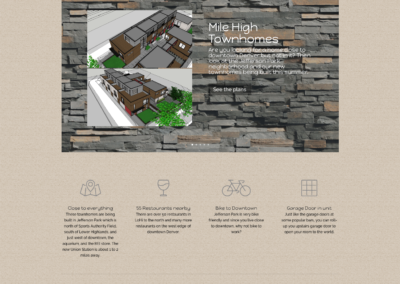 Mile High Townhomes websited design