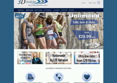 3D Mobile website2