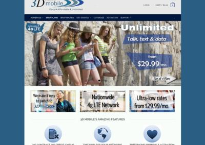 3D Mobile website design #2