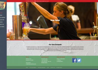Tallgrass Tap House website design