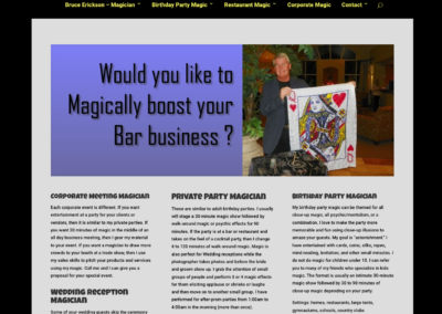 The Magic of Bruce Erickson website