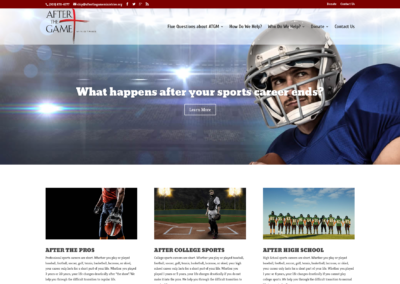 After The Game Ministries website