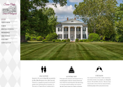 Seven Oaks Farm & Vineyard web design