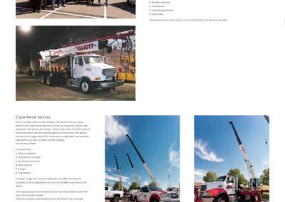 Denver crane service new website screenshot